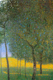 Gustav Klimt Fruit Trees Plastic Sign Signe en plastique rigide
