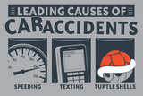 Causes of Car Accidents Snorg Tees Plastic Sign Plastic Sign by  Snorg