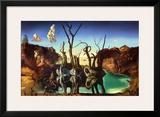 Swans Reflecting Elephants, c.1937 Art by Salvador Dalí