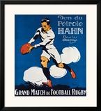Rugby Impressão giclée emoldurada por  Ribet