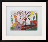 Landscape with Trees Posters por Werner Gilles