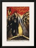 The Cabinet Of Dr. Calagari - 1920 Impressão giclée emoldurada