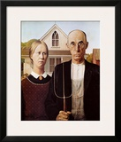 American Gothic, 1930 Art by Grant Wood