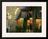Rainy Day Pub Print by Leo Stans