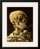 Skull with Burning Cigarette Prints by Vincent van Gogh