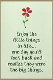 Enjoy the Little Things in Life Plastic Sign Placa de plástico
