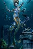 Mermaid Hunt by Tom Wood Plastic Sign Signe en plastique rigide par Tom Wood