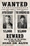Butch Cassidy and The Sundance Kid Wanted Advertisement Print Plastic Sign Plastskilt