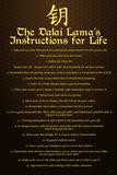 Dalai Lama (Instructions For Life) Plastic Sign Plastic Sign