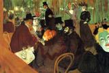 Henri de Toulouse-Lautrec In the Moulin Rouge Plastic Sign Cartel de plástico por Henri de Toulouse-Lautrec
