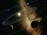 Saturn And Solar System Lámina fotográfica por Detlev Van Ravenswaay