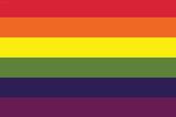 Gay Pride Rainbow Flag Print Plastic Sign Plastic Sign