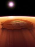 Olympus Mons, Mars Fotografie-Druck von Detlev Van Ravenswaay