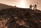 USA-China Exploration of Mars, Artwork Fotografie-Druck von Detlev Van Ravenswaay