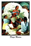 Diego Rivera (Vendedores de Flores) Plastic Sign Plastic Sign by Diego Rivera