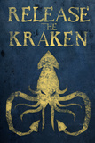 Release The Kraken Plastic Sign Placa de plástico