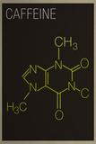Caffeine Molecule Plastic Sign Plastic Sign