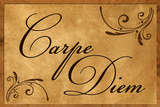 Carpe Diem Seize the Day Wood Carving Plastic Sign Targa di plastica