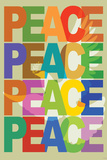 Peace (Dove) Plastic Sign Targa di plastica