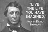Live The Life You Have Imagined Henry David Thoreau Quote Plastic Sign Plastic Sign by  Ephemera