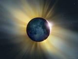 Total Solar Eclipse Fotografie-Druck von Detlev Van Ravenswaay