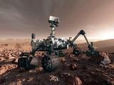 Curiosity Rover, Artwork Bedruckte aufgespannte Leinwand von Detlev Van Ravenswaay