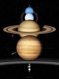 Solar System Planets Fotografie-Druck von Detlev Van Ravenswaay