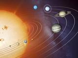 Solar System Orbits, Artwork Premium-Fotodruck von Detlev Van Ravenswaay