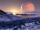 Jupiter From Europa, Artwork Fotoprint av Detlev Van Ravenswaay