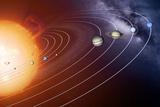 Solar System Orbits, Artwork Fotografie-Druck von Detlev Van Ravenswaay