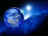 Earth, Sun And Moon Fotografisk tryk af Detlev Van Ravenswaay