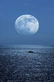 Full Moon Rising Over the Sea Photographic Print by Detlev Van Ravenswaay