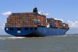 Container Ship At Sea Reproduction photographique par Dirk Wiersma