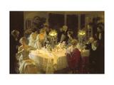The Dinner Party Premium Giclee-trykk av Jules-Alexandre Grün