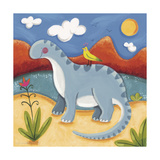 Baby Dippy The Diplodocus Premium Giclee Print by Sophie Harding