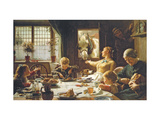 One of the Family Premium Giclee Print by Frederick George Cotman