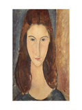 Jeanne Hebuterne Reproduction giclée Premium par Amedeo Modigliani