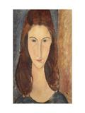Jeanne Hebuterne Premium Giclee Print by Amedeo Modigliani