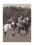 Polo In The Park I Premium Giclee-trykk av Ben Wood