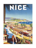 Nice Premium Giclée-tryk af  De'Hey