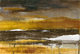 Stratscape in Gold Affiches par Lanie Loreth