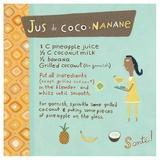 Banana-Coconut Juice Posters tekijänä Céline Malépart