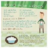 Chocolate-Coconut Cupcake Posters tekijänä Céline Malépart