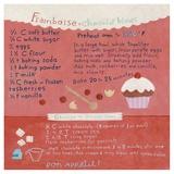 White Chocolate-Raspberry Cupcake Stampe di Céline Malépart