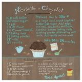 Chocolate-Hazelnut Cupcake Stampe di Céline Malépart
