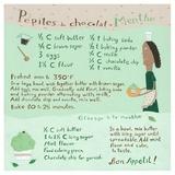 Mint-Chocochip Cupcake Stampa di Céline Malépart