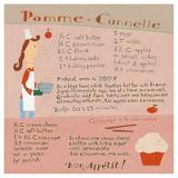 Apple-Cinnamon Cupcake Poster di Céline Malépart