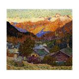 Autumn Morning (Original), 1908 Reproduction procédé giclée par Giacometti Giovanni