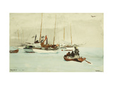 Schooners at Anchor, Key West Giclee Print by Winslow Homer