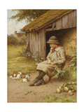 His Last Investment Giclée-tryk af Charles Edward Wilson